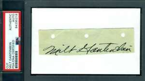 Milt Gantenbein PSA DNA Coa Signed Vintage 1935 Packers 3x5 Index Cut Autograph