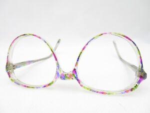 Occhiali-di-STOEFFLER-50-18-140-Vintage-Montatura-Occhiali-Da-Donna-Colorato-Panto-XXL-NUOVO