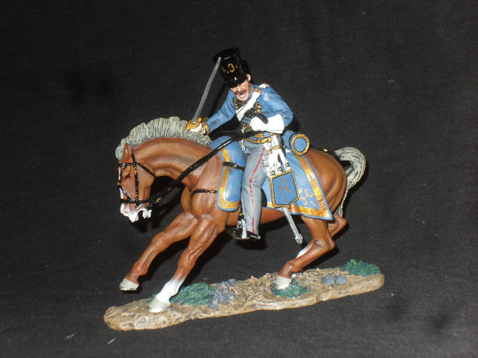 KING AND AND COUNTRY CRIMEAN WAR CRW19 MOUNTED RUSSIAN HUSSAR CHARGING.
