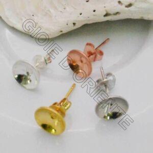 3-coppie-Base-Orecchini-a-perno-con-castone-8-mm-incollo-in-ottone-per-bijoux