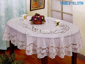 abwaschbare vinyl tischdecke garten tischtuch eckig rund oval viele gr neu ebay. Black Bedroom Furniture Sets. Home Design Ideas