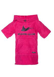 Atlantic-Shore-Surf-Poncho-Bademantel-Umziehhilfe-fuer-Baby-Pink