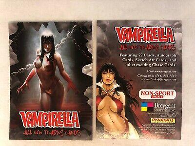 SAN DIEGO COMIC CON PROMO CARD VAMPIRELLA ALL NEW TRADING CARDS