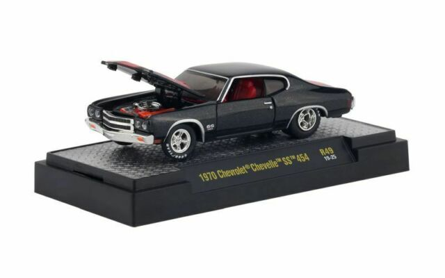 1970 Chevrolet Chevelle SS 454 Black/Red * m2 machines auto Meets 1:64 nuevo