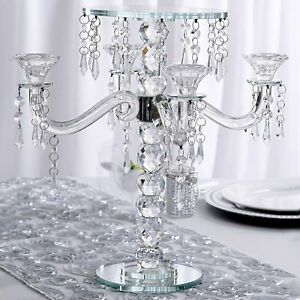 Image Is Loading Clear Crystal Candle Holder 15 034 Tall Candlestick