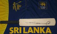Tillakaratne Dilshan (sri Lanka) Signed Mini Cricket Bat + Coa & Photo Proof