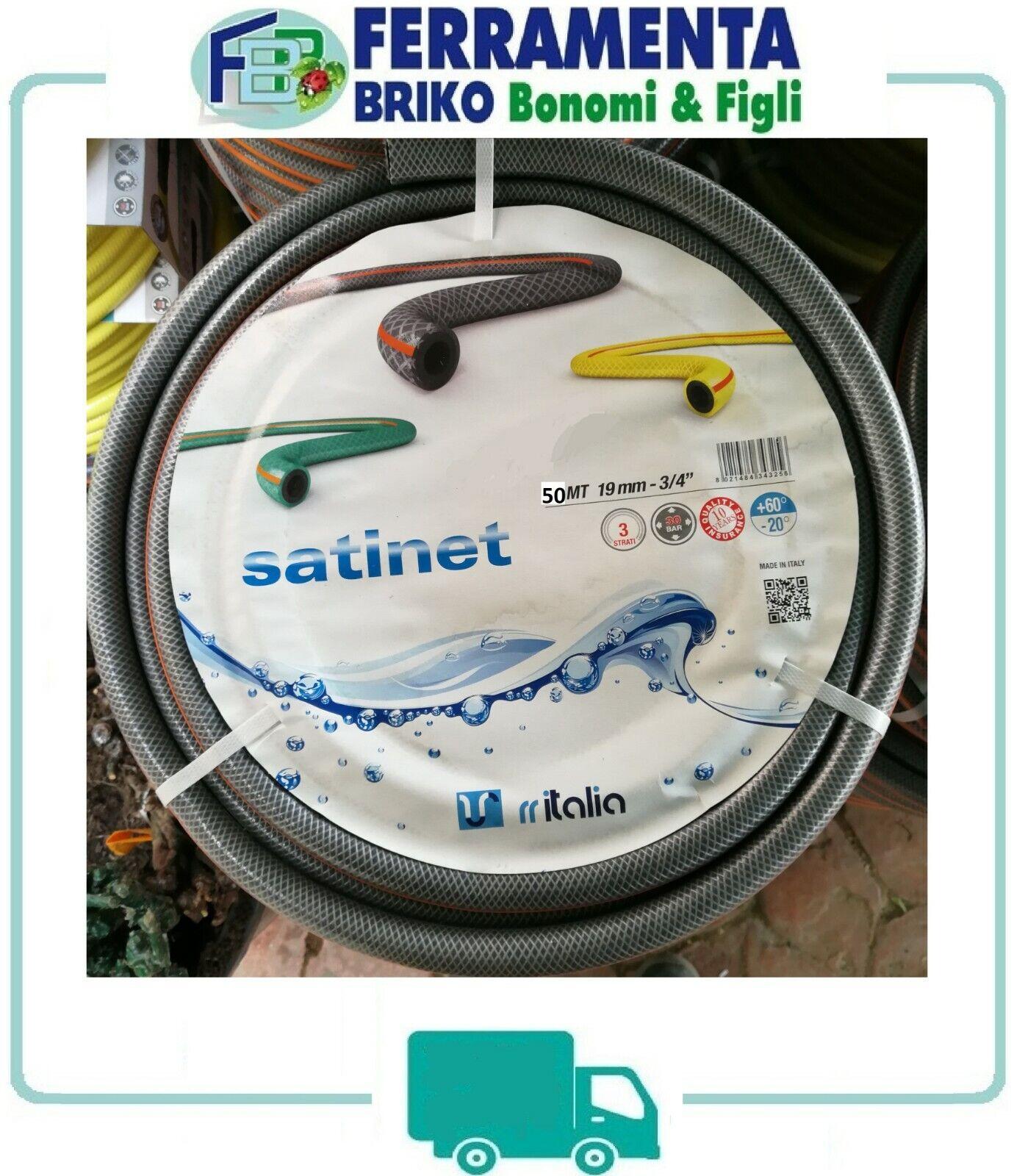 SATINET tubo irrigazione giardino 3 4 grigio 50 m metri