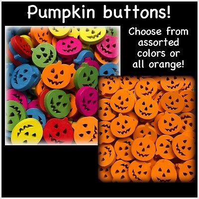 """Hair Clips 0.75/"""" 3//4/"""" Crafting 4 Pumpkin Novelty Buttons for Sewing"""