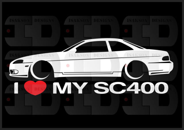 I Heart My Sc400 Sticker Love Slammed Low JDM Coupe Japan Lexus Static  Bagged