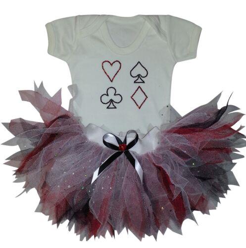 Queen Of Hearts Baby Grow Tutu Skirt 80S Fancy Dress Costume Headband Book Week