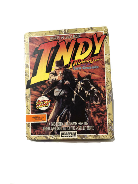 1989 Indy Indiana Jones and The Last Crusade The Action Game Commodore 64/128