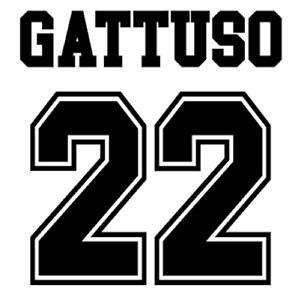 Rangers Gattuso Nameset Away Shirt Soccer Number Letter Print Football adidas