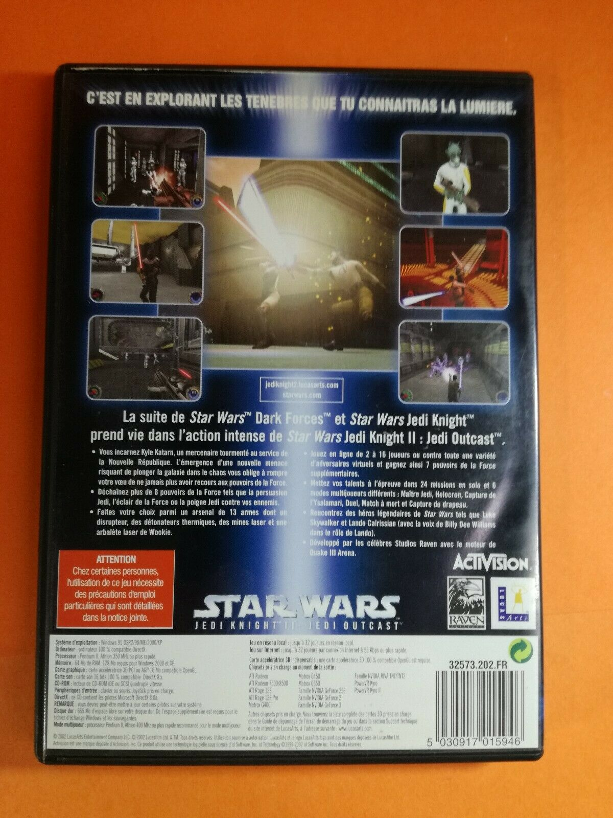 jeu PC - STAR WARS JEDI KNIGHT 2 Jedi Outcast - pas cher StarWars