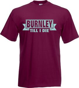 aacf1d59dbc Image is loading T-Shirt-BURNLEY-Football-Claret-shirt-adult-Mens-