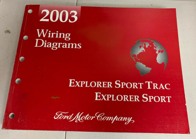 2003 Ford Oem Explorer Sport Trac Electrical Wiring Diagrams Service Shop Manual