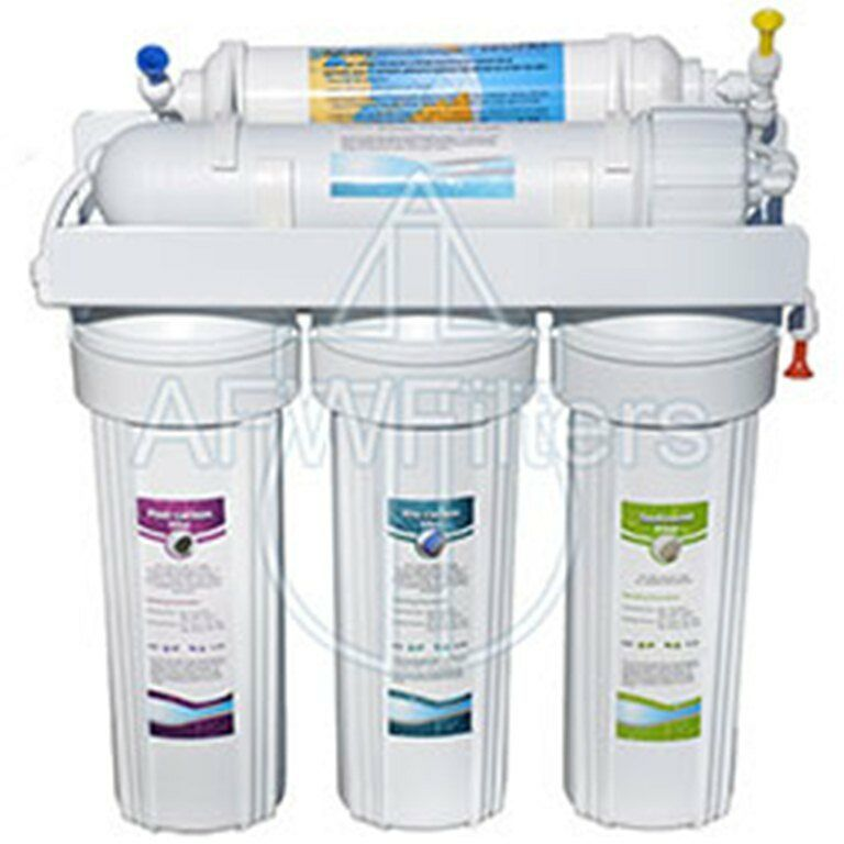 5 Stage RO Reverse Osmosis Drinking Water Filter 50 gpd