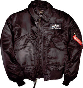 new concept 3b4f3 c0f14 Details about Original alpha industries Cwu 45 Flight Bomber Jacket Jacket  to 5XL Black
