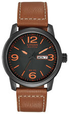 Citizen Eco-Drive Men's Chandler Quartz Brown Leather 42mm Watch BM8475-26E