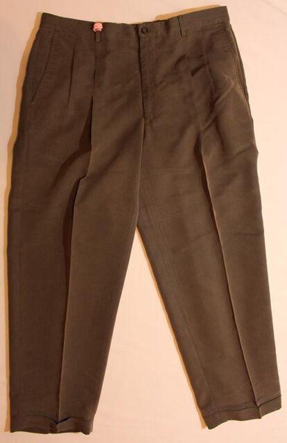 95ac22d5df9c10 Mens CLAIBORNE Dark Green Dress Pants SIZE 38 30   eBay
