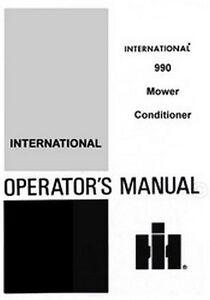International-990-Mower-Conditioner-Operators-Manual
