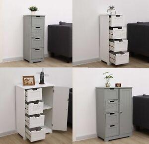 050c88205a07 Image is loading WestWood-Bathroom-Storage-Cabinet-Wooden-4-Drawer-Cupboard-
