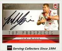 2011 Select Nrl Strike Top Prospect Signature Card Tp12 Trent Merrin (dragons)