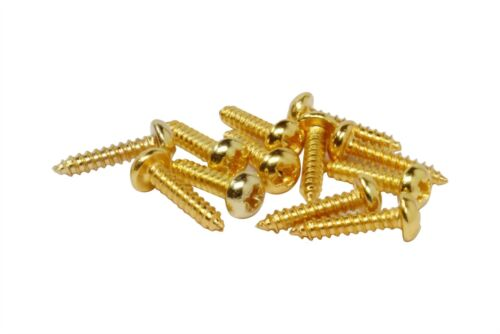"Small Truss rod cover tuning machine screws for guitars #2 x 3//8/"" Qty 12 Gold"