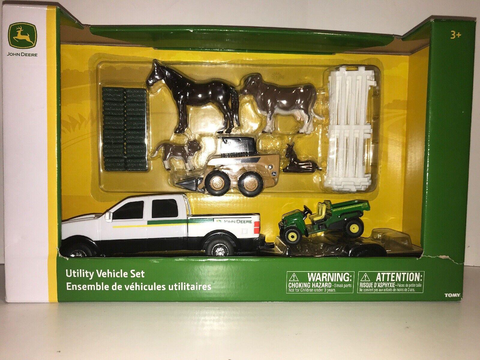 calidad oficial Nuevo Recolección conjunto de vehículo utilitario John John John Deere Gator Skidsteer edades 3+ LP68179 Animal  más descuento
