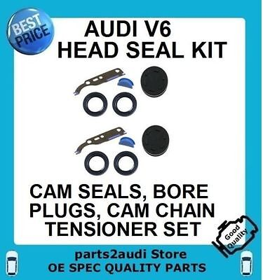 For AUDI Head Seal Valve Cover CamBorePlugsCamshaftSeal Kit+Valve Cover Gasket