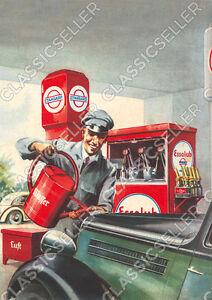 Standard-Esso-Essolub-Tankstelle-Werkstatt-Poster-Plakat-Bild-Kunstdruck-Reklame