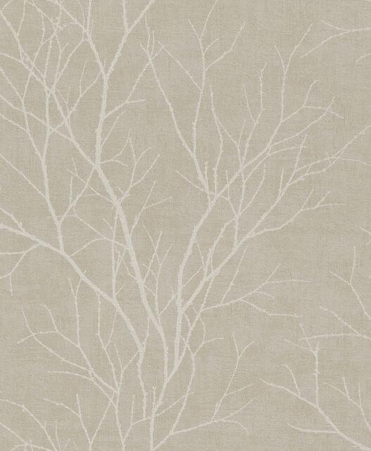 Rasch tapeten braun  Rasch Tapete 455908 äste Braun/beige | eBay
