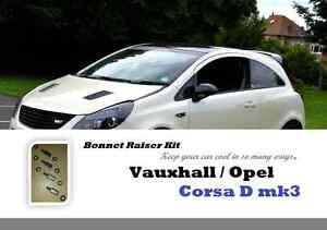 16-Piece-set-Vauxhall-Opel-Corsa-mk3-mk4-D-E-bonnet-hood-spacers-raisers-lifters