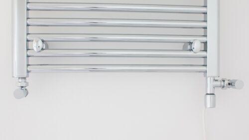 Chrome A DOPPIA ALIMENTAZIONE KIT di Conversione per binario calorifero Elemento Radiatore elettrico