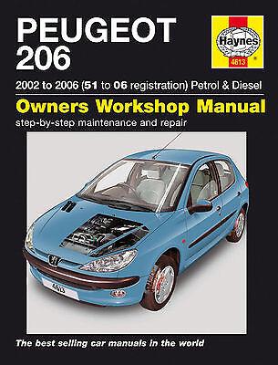 02-06 Haynes Workshop Manuale per PEUGEOT 206 Benzina /& Diesel