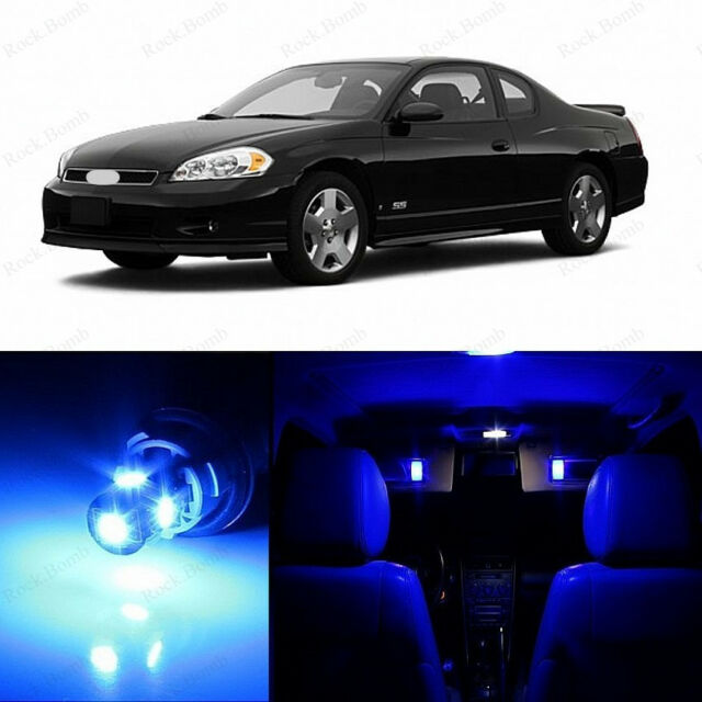 11 x Ultra Blue LED Interior Lights For 2000-2007 Chevrolet Chevy Monte Carlo