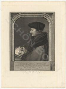 Kupferstich-1780-Christian-v-Mechel-Hans-Holbein-Portrait-Erasmus-v-Rotterdam