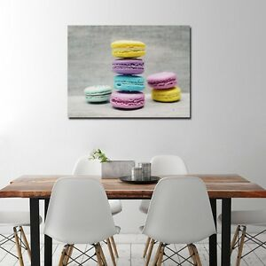 Details about Macaroon Canvas Printing for Kitchen Dining Room Wall Art  Decoration Food Poster