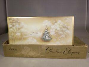 Norcross-Christmas-Elegance-25-Greeting-Cards-Church-Glitter-22-Envelope-Vintage