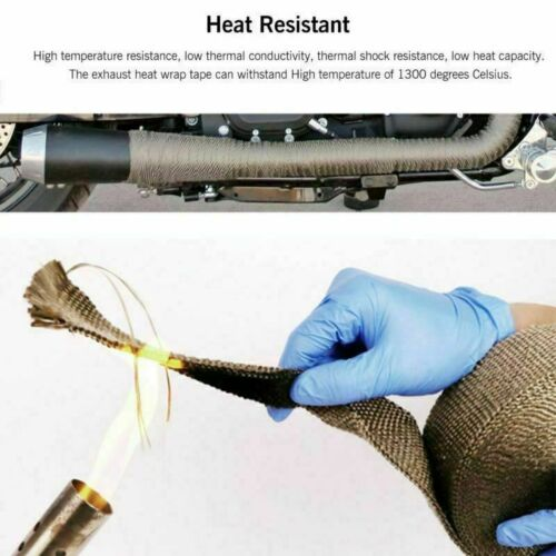 20M Exhaust Heat Wrap Exhaust Manifold Gold High Temp Insulating Tape Motorcycle