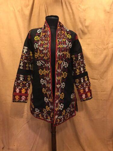 Vintage handmade short Jacket, embroidered black j
