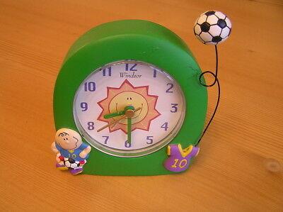 Windsor Kinder Wecker Fussball Mit Zeiger Analog Ebay