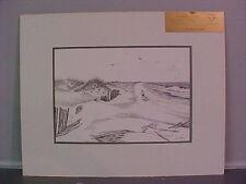 "Ocracoke Artist Jo Ko JOKO Joseph Koch ""BEACHCOMBERS"" Print N. Carolina OBX"