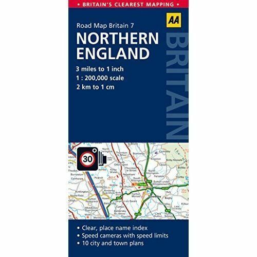 Road Map, Northern England (AA Road Map Britain Series - 7), AA Publishing, Used