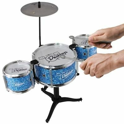 Miniature Blue Drum kit Musical Instrument Executive Office Desktop Gadget Toy
