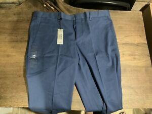 Pantalones Largos De Algodon Para Hombres Moda Elegante Size 34 32 Ebay