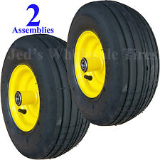TWO 13x5.00-6 13/500-6 Riding Mower Tires Rims Wheels Assemblies for John Deere