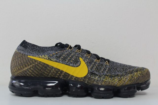 online store f28be 7a8b6 Nike Mens Air Vapormax Flyknit Size 11.5 Black Mineral Gold Dark Grey  849558 021