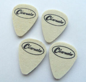 MEDIUM FELT PICK PACK OF 4x4mm CLEARWATER PLECTRUMS FOR NYLON STRUNG UKE GUITAR