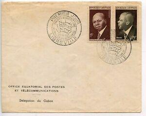 Doux Fdc / Premier Jour Gabon Libreville / Premier Ministre Leon Mba 1959 Haute RéSilience