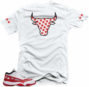 0a8aeb0e689 Shirt to match Air Jordan Retro 11 Low IE Gym Red Sneakers Bull 11 ...